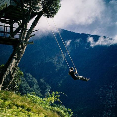 Swing Ecuador the swing at the end of the world i want water