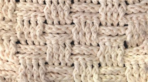 pattern crochet basket weave basket weave stitch crochet how to youtube