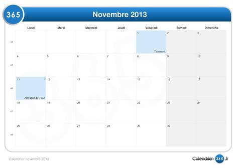 Calendrier F2vrier 2018 Calendrier Novembre 2013