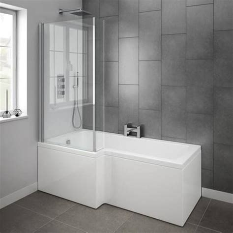 Perspex Sheet For Bathrooms by Milan Shower Bath 1700mm L Shaped With Screen Panel