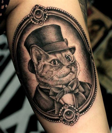 cat tattoo top hat llama llama sloth on pinterest sloth tattoo element