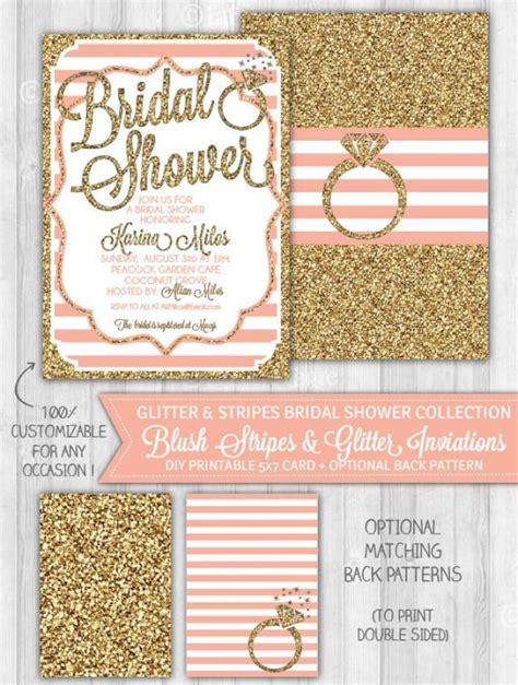 glitter bridal shower invitations blush pink gold glitter bridal shower invitation bridal