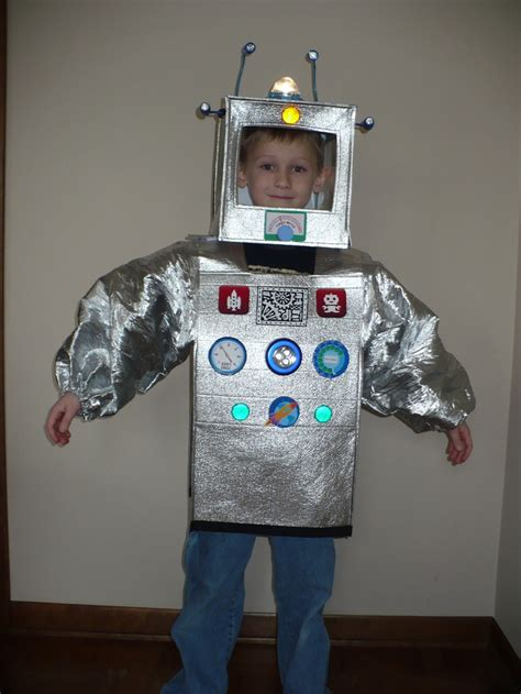 robot costume size 4 6 really lights up for dress up birthday in 2019