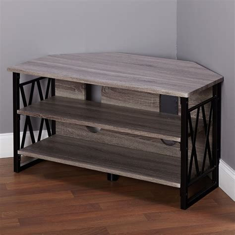 corner table ideas simple living seneca corner tv stand overstock shopping