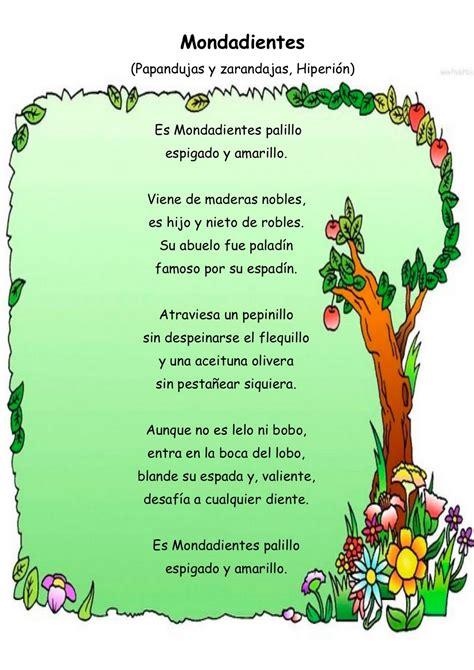 imagenes sensoriales poesia infantil fichas infantiles poemas infantiles