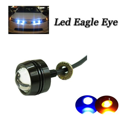 green light auto group universal fit 3w led eagle eye light white yellow red
