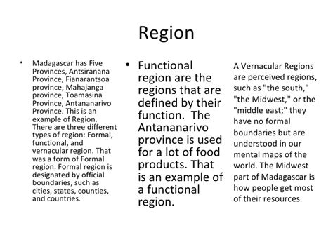 5 themes of geography vernacular region madagascar and the five themes of geography