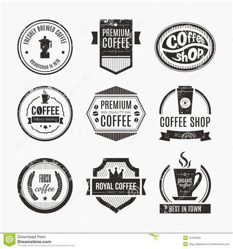 coffee shop logo collection stock vector image 47497663