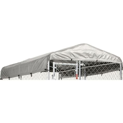 kennel kits shop lucky 120 in l x 60 in w plastic roof kit kennel cover at lowes