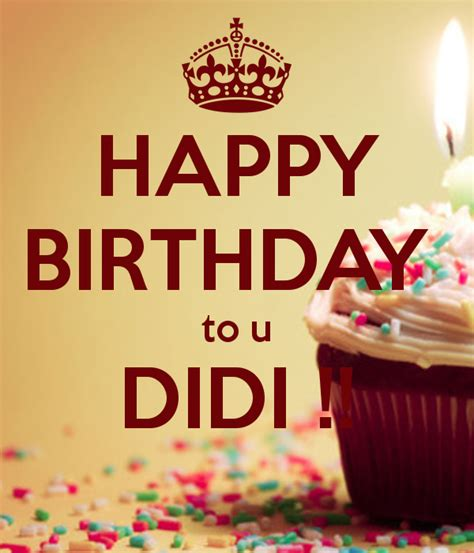 happy birthday to u didi keep calm and carry on image
