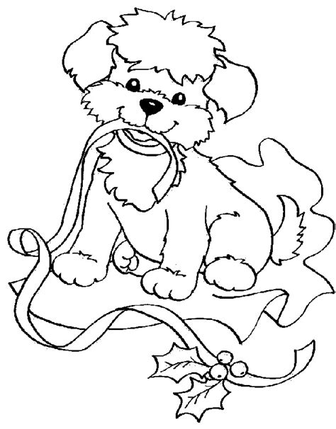 christmas coloring pages of puppies christmas coloring pages color in christmas pictures