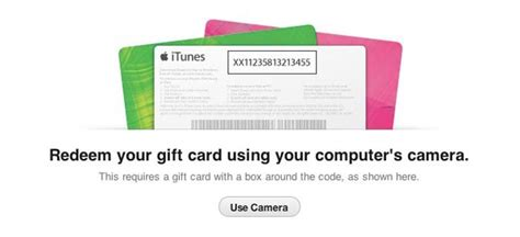 How To Redeem Gift Cards - how to redeem gift cards using your camera in itunes 11
