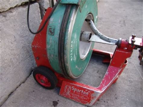 Used Plumbing Snake by Spartan 1065 Rod O Matic Sewer Drain Cleaner Snake 120v Units