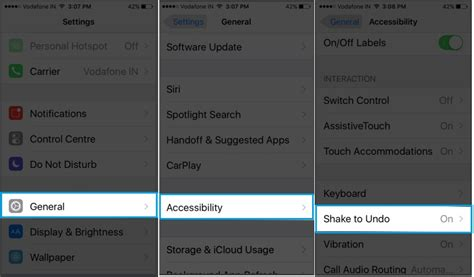 how to disable shake to undo on iphone 6s 6s plus ios 9