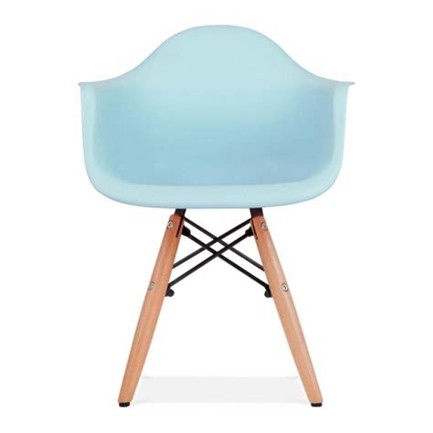 charles eames style light blue daw chair