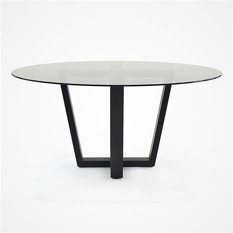 Glass Oak Dining Table Smoked Glass And Oak Base Dining Table Rotsen Furniture