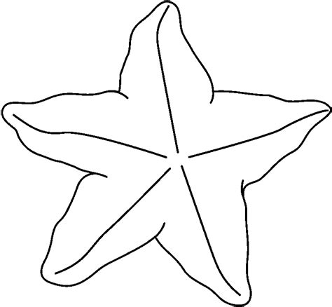 Starfish Outline by Fish Outline Www Imgkid The Image Kid Has It
