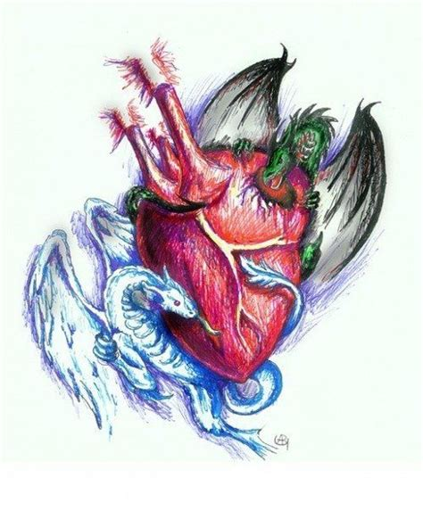dragon heart tattoo designs dragons sketch best designs