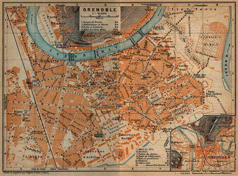 map of grenoble maps of nearer environs of grenoble map 1914