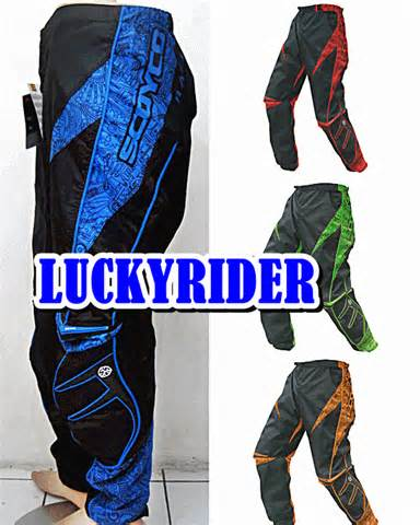 Jersey Set Cross Baju Celana touring lucky rider