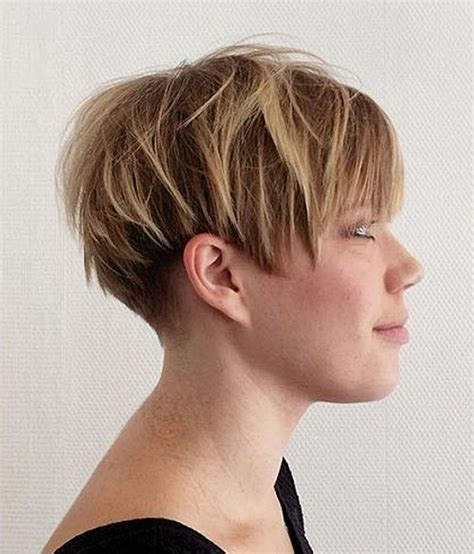 short chopped hairstyles back view overwhelming short choppy haircuts for 2018 2019 bob