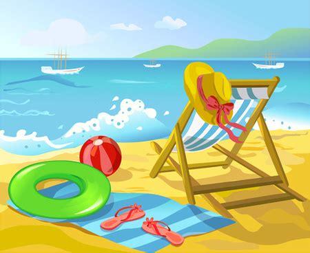 cartoon vacation wallpaper summer beach clipart clipground
