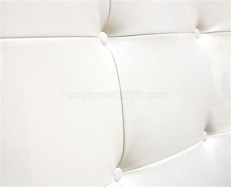 white leather tufted headboard white walnut md317 bed by modloft w oversized tufted