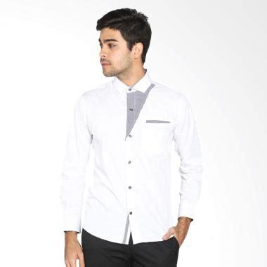 Vm Kemeja Fashion Slim Putih Kombinasi New Slim Katun Nf Plat 173 jual vm fashion casual slimfit korean kemeja panjang pria putih harga kualitas