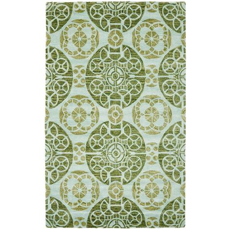 turquoise green rug safavieh wyndham turquoise green 8 ft x 10 ft area rug wyd376k 8 the home depot