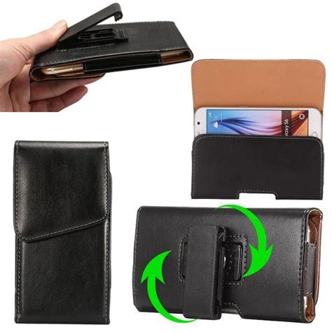 Original Samsung Universal Leather Pouch For Iphone 55s5se Etc for iphone samsung waist belt clip cover leather