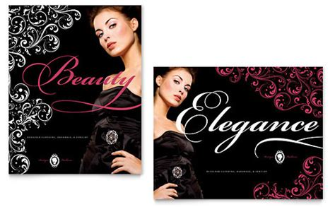 Formal Fashions Jewelry Boutique Brochure Template Design Boutique Flyer Template