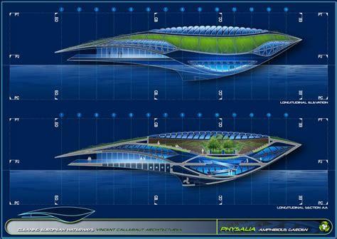 Future Building Designs by Amazing Architectural Concept Physalia The Amphibious Garden