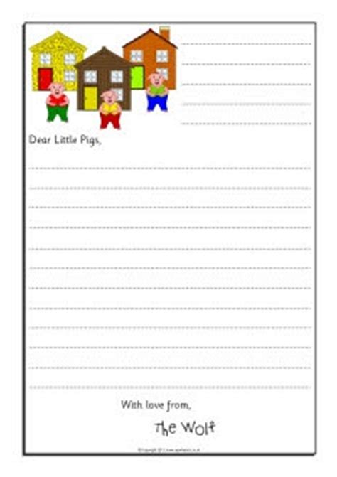 Apology Letter Kindergarten Wolf Sorry Letter Writing Frames Three Pigs Sb9124 Sparklebox Skola Bilder Att