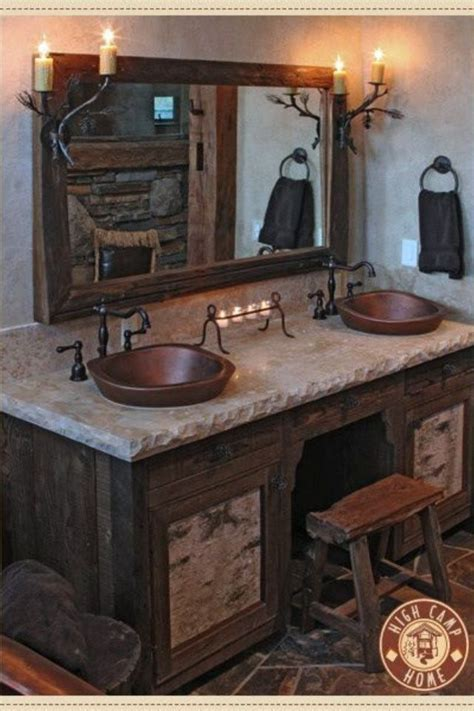 Cabin Vanity by Best 25 Log Cabin Bathrooms Ideas On Cabin