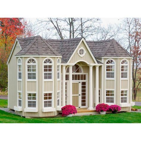 Cottage Playhouses by Cottage 10 X 16 Grand Portico Mansion Wood