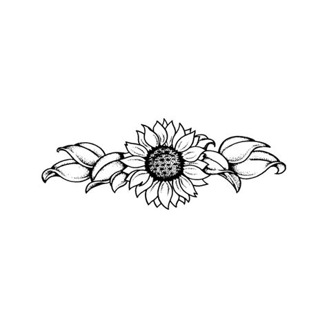sunflower outline tattoo sunflower outline pictures to pin on