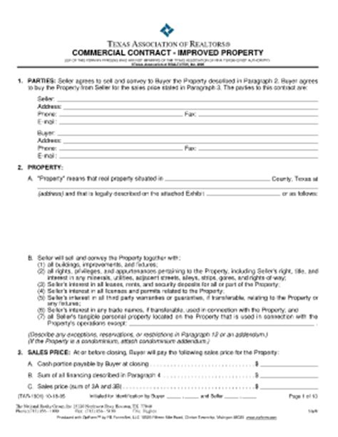 warehouse lease agreement template commercial contract form fill printable