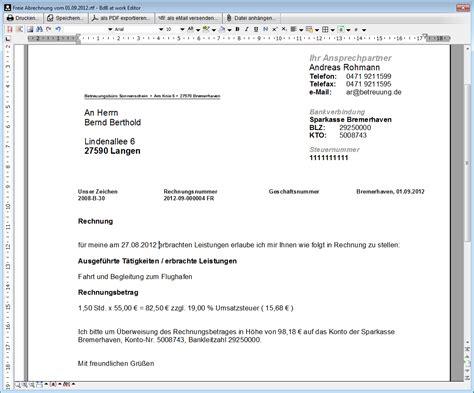 Muster Rechnung Freie Mitarbeit Freie Rechnungsstellung Betreuung De