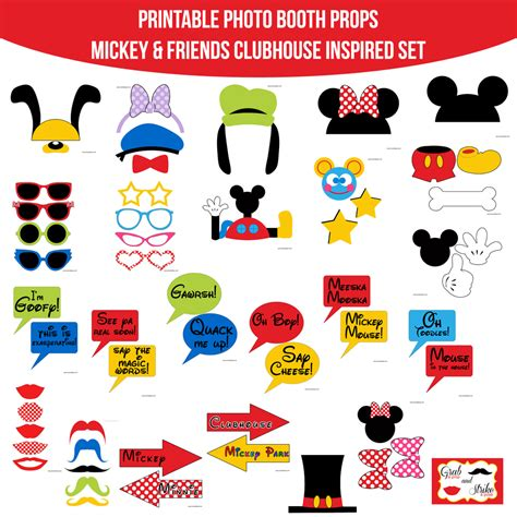 mickey mouse disney inspired birthday printables big instant mickey mouse friends clubhouse inspired