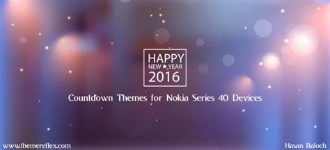 theme for new year happy new year 2016 countdown themes for nokia series 40