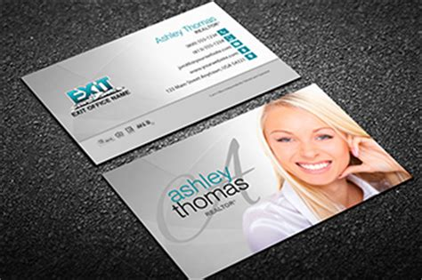 Free Exit Realty Real Estate Business Cards Template by Exit Realty Business Card Templates Free Shipping