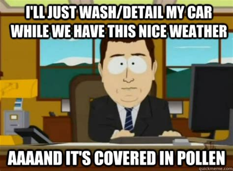 South Park Nice Meme - i ll just wash detail my car while we have this nice