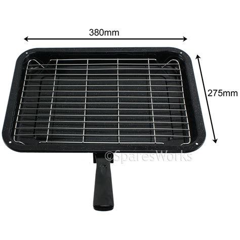 Small Oven Rack by 1 Handle Small Enamelled Grill Pan Tray Rack For Tricity