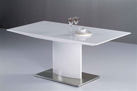 Modern Extendable White Lacquer Dining Table Cr2014 Modern White Dining Table