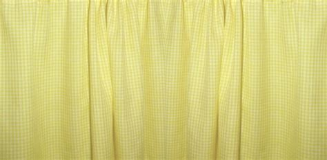 mini yellow gingham check bedskirt in all sizes from twin