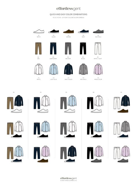 color combinations for clothes how to match clothes and easy color combos