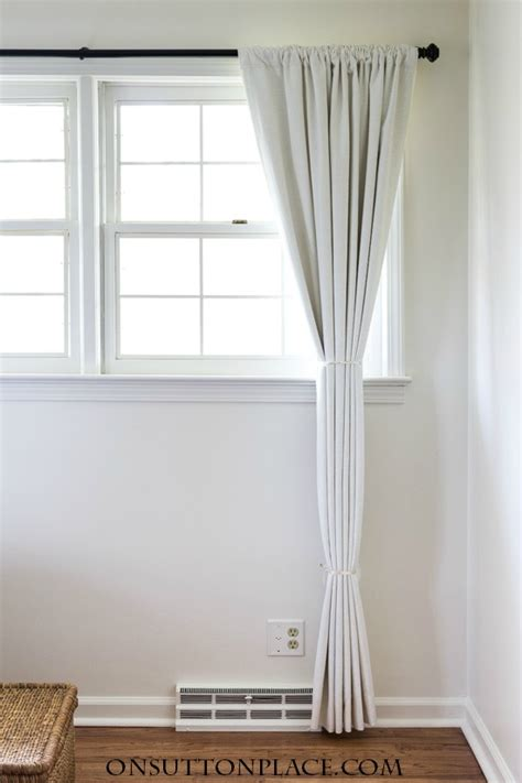 how to hang drapery panels how to hang curtains like a pro on sutton place