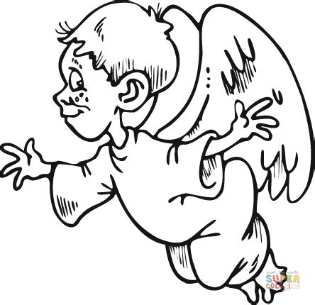 boy angel coloring page small boy angel coloring page free printable coloring pages