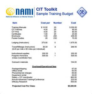 Training Budget Template Training Proposal Template 11 Free Word Excel Pdf