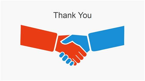 Simple Thank You Slide Hand Shaking Slidemodel Thank You Slide For Ppt Images